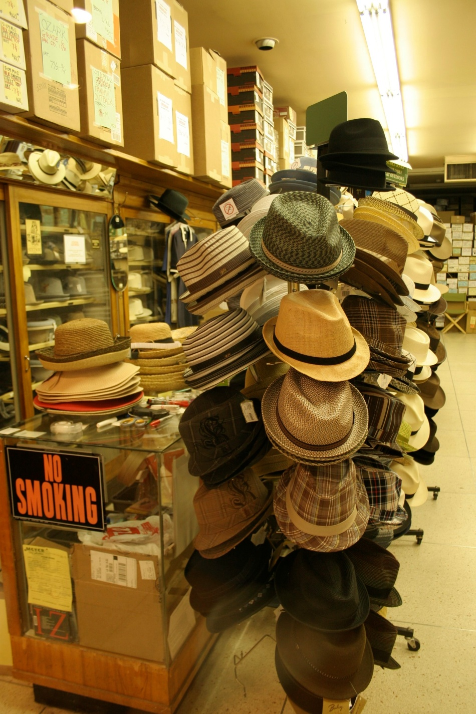 Hats on display at Meyer the Hatter