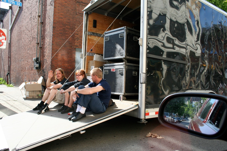 Roadies and Band Equipment