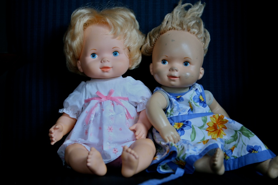 Baby Doll on the right and her twin sister, both 30 years old.