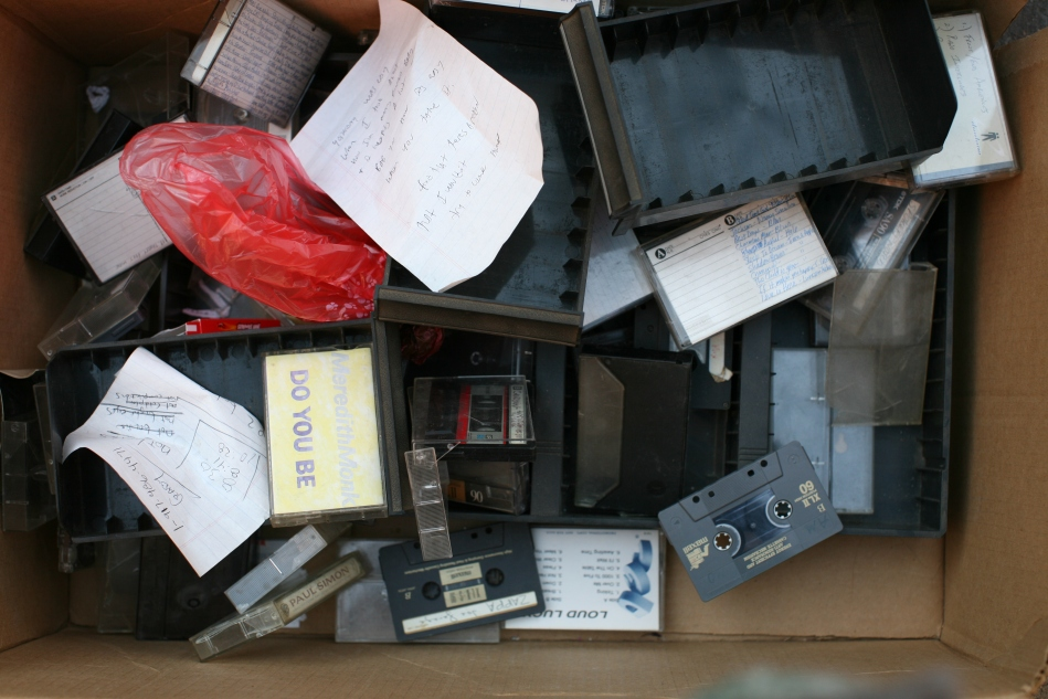 Cassette Tapes in the Trash