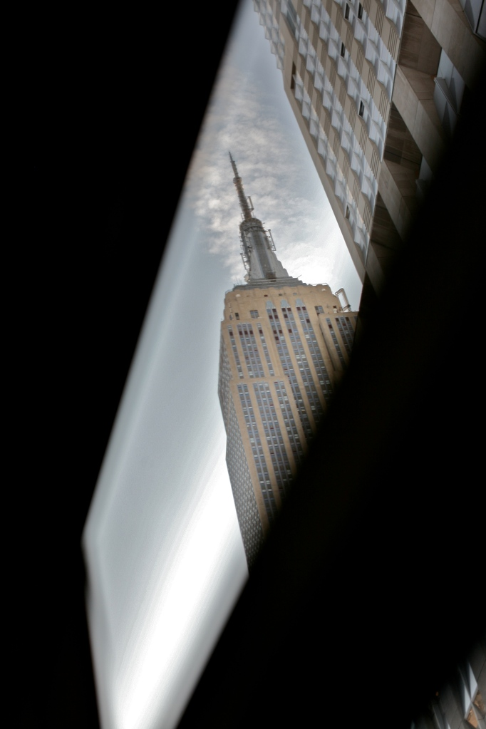Empire State Building Through BUs Window View