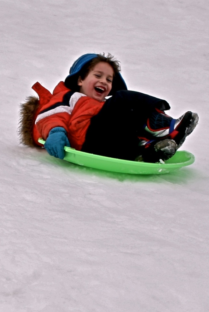 Sledding in Columbus Ohio