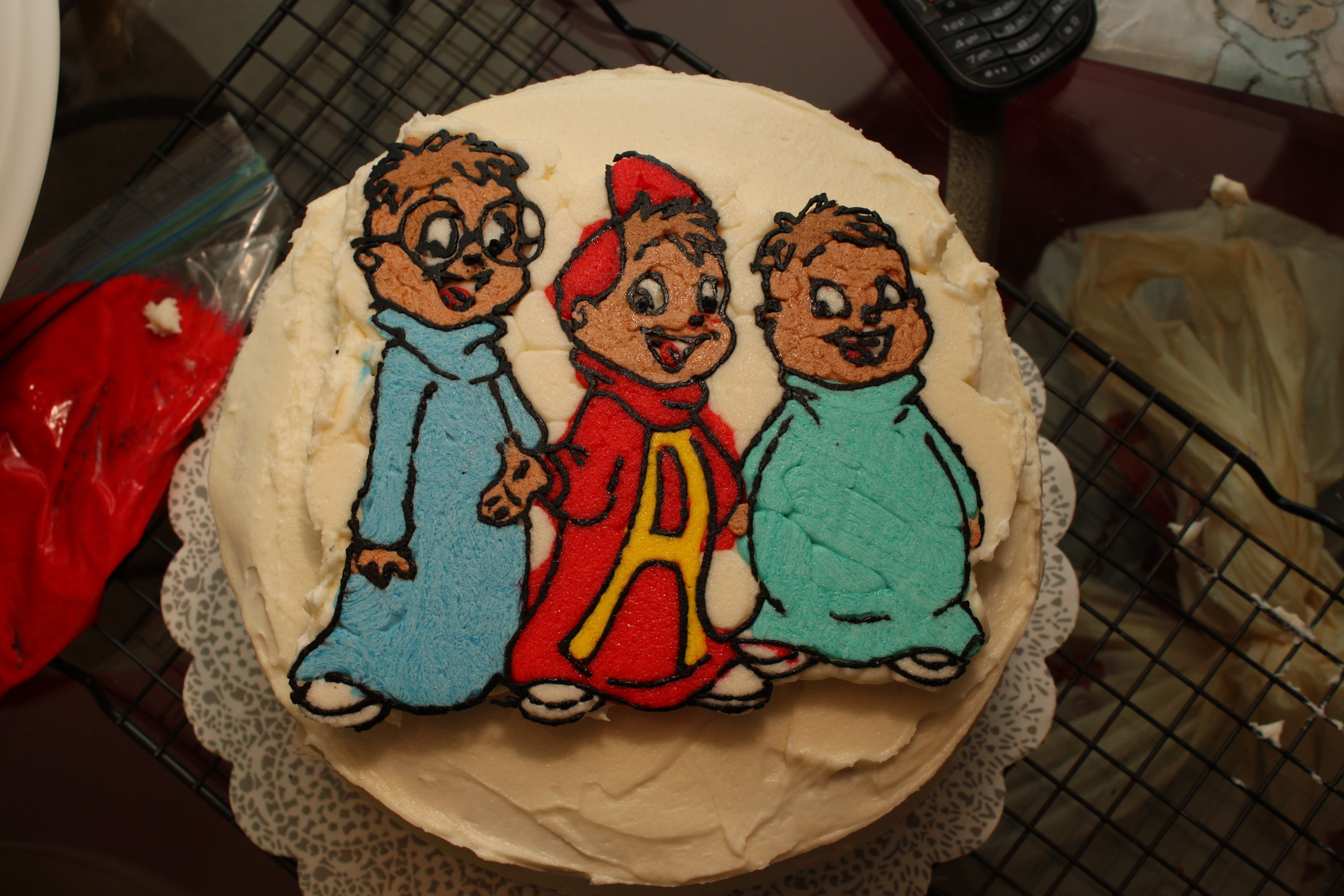 Alvin And The Chipmunks Cake Michael Is Five Ruth E
