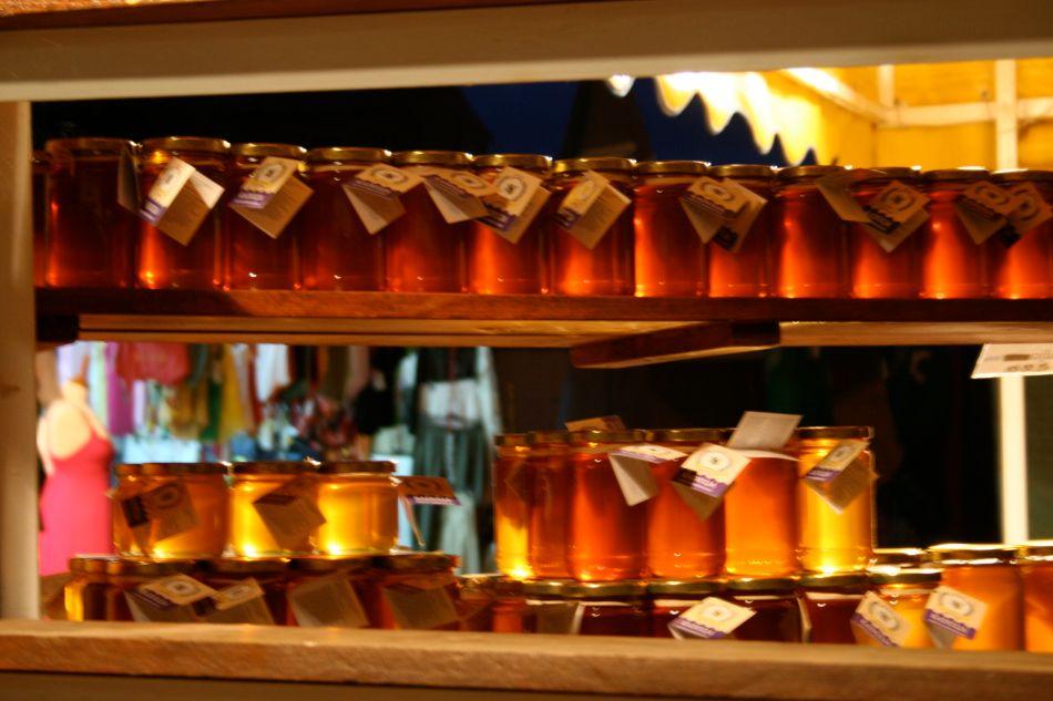 Jars of honey to remember Joyce B. Singh growing up on a honey farm.