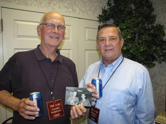 Don Anderson and Ed Kichi Quantico, VA 2011   Reunion TBS-4-66