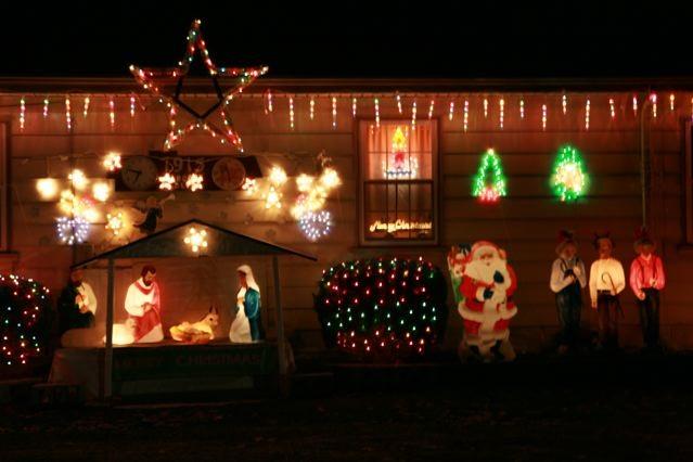 Christmas Decorations at Night