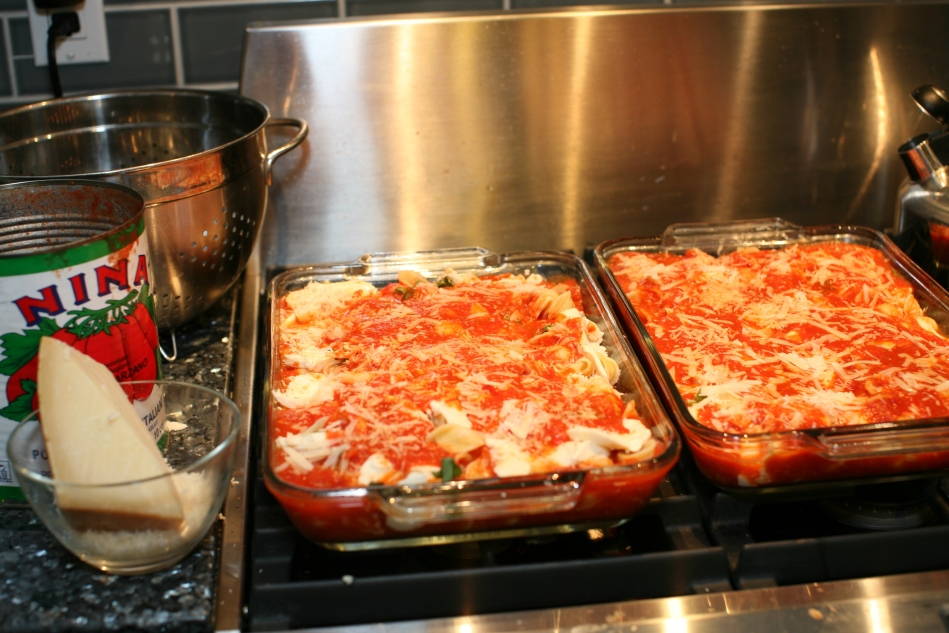 Baked Pasta Using Orecchiette Shape Pasta- Fresh Mozzarella-Fresh Basil