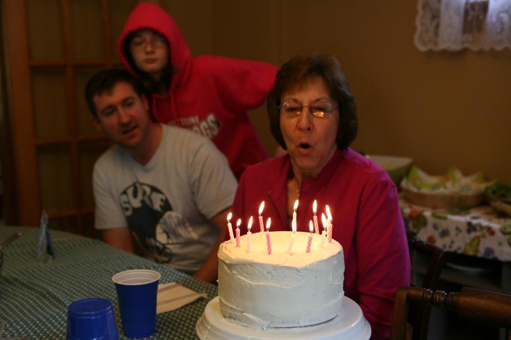 Vanilla cake with vanilla icing. Classic Birthday 1-2-3-4 cake.
