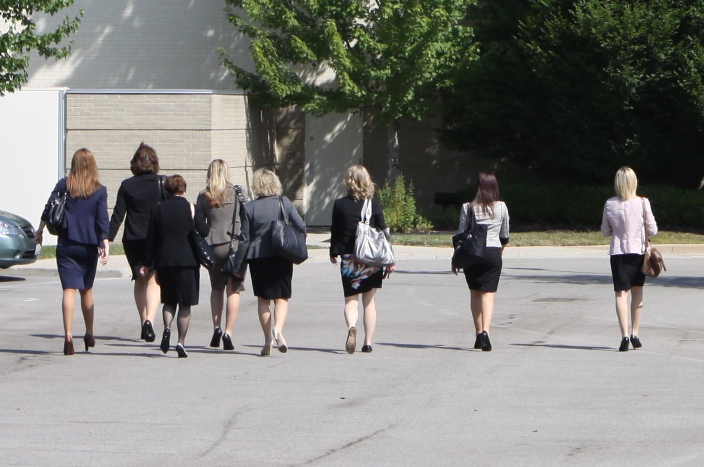 women walking into work ruth e hendricks photography women walking into work