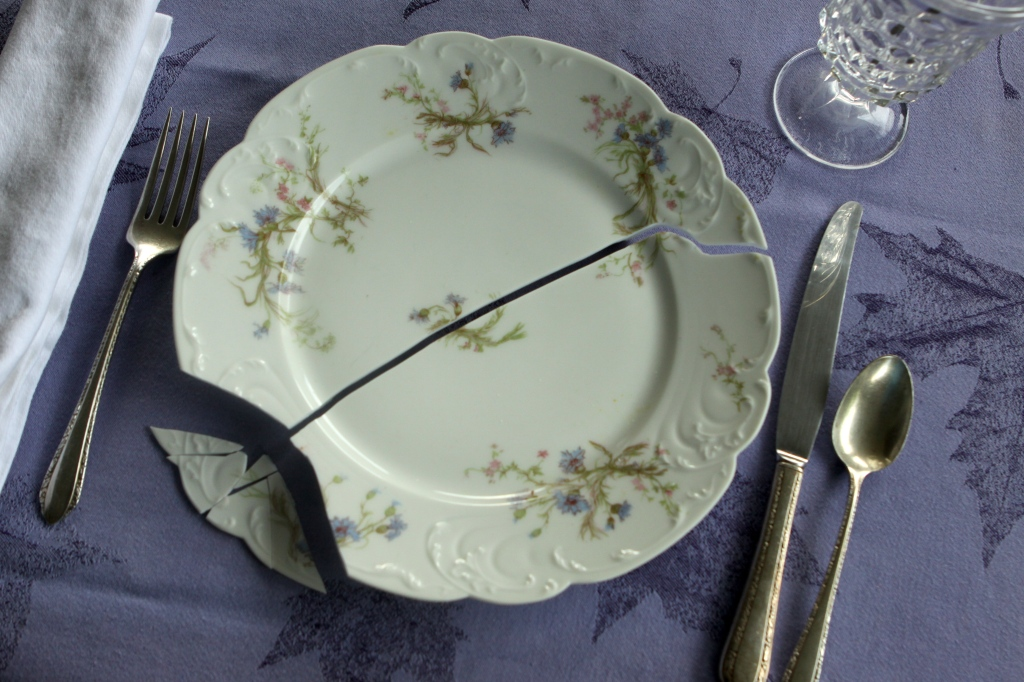 Broken Haviland China Plate