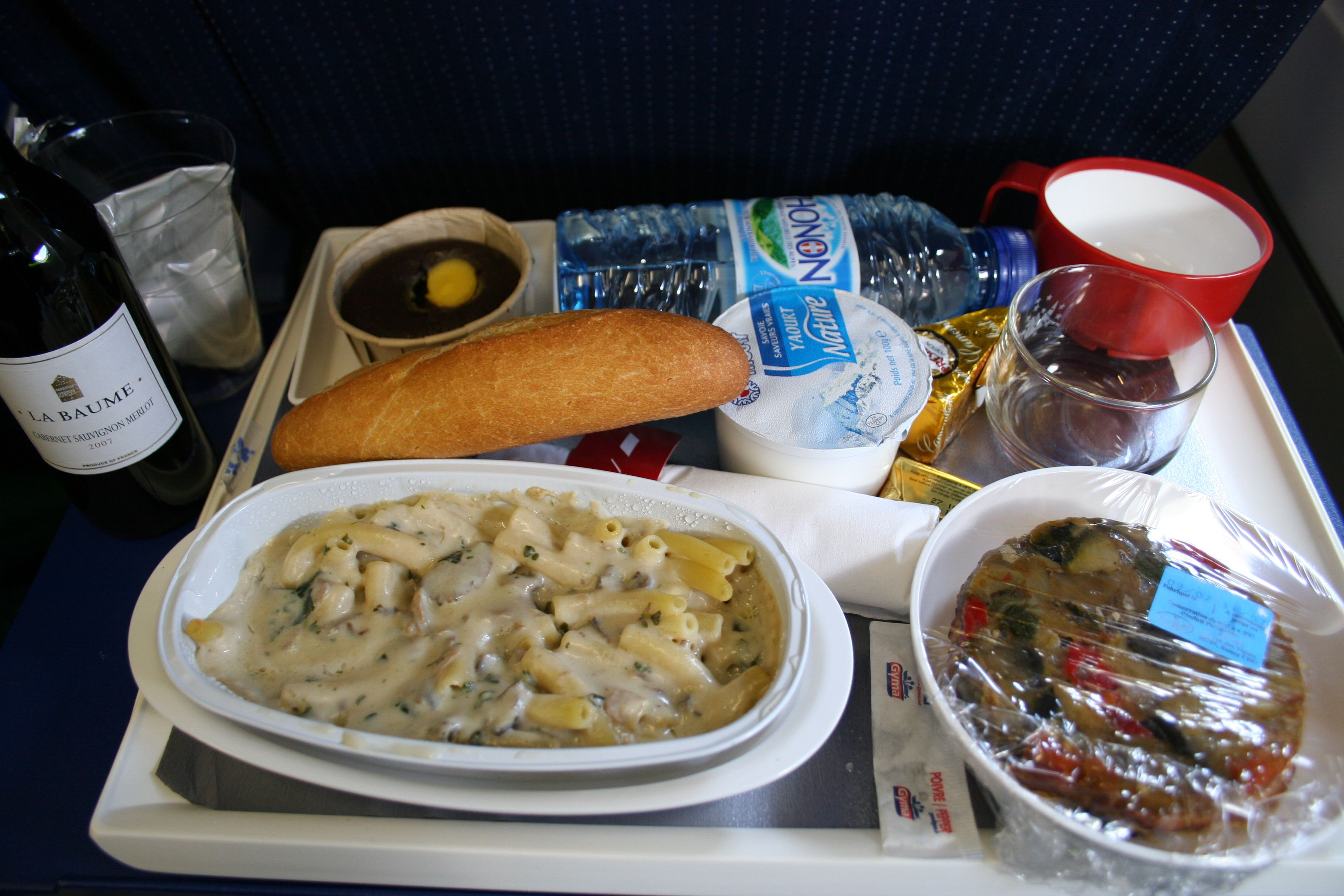 Air France Meal on a Tray  Ruth E Hendricks Photography