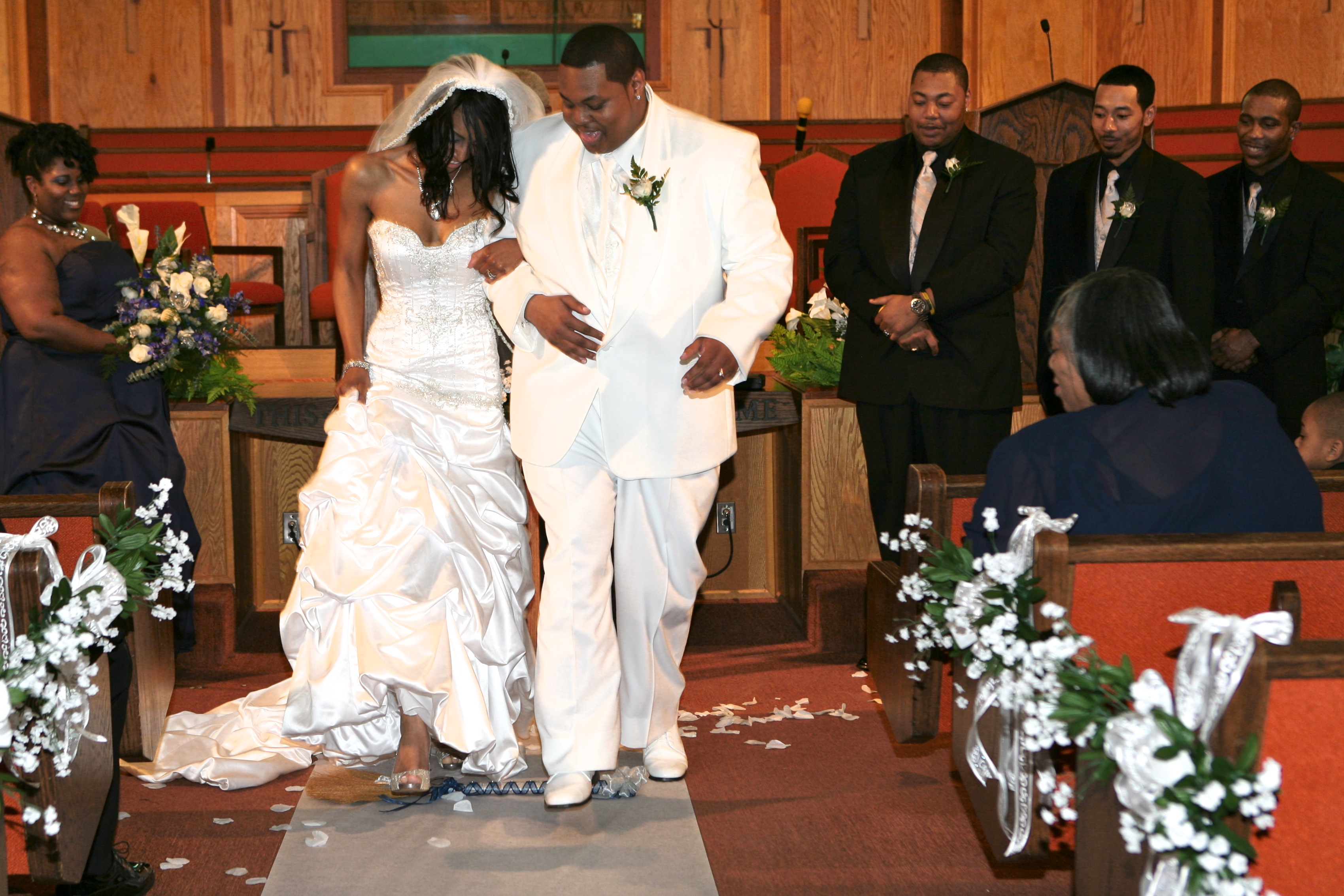 alexis and jarrett tie the knot and jump the broom � ruth