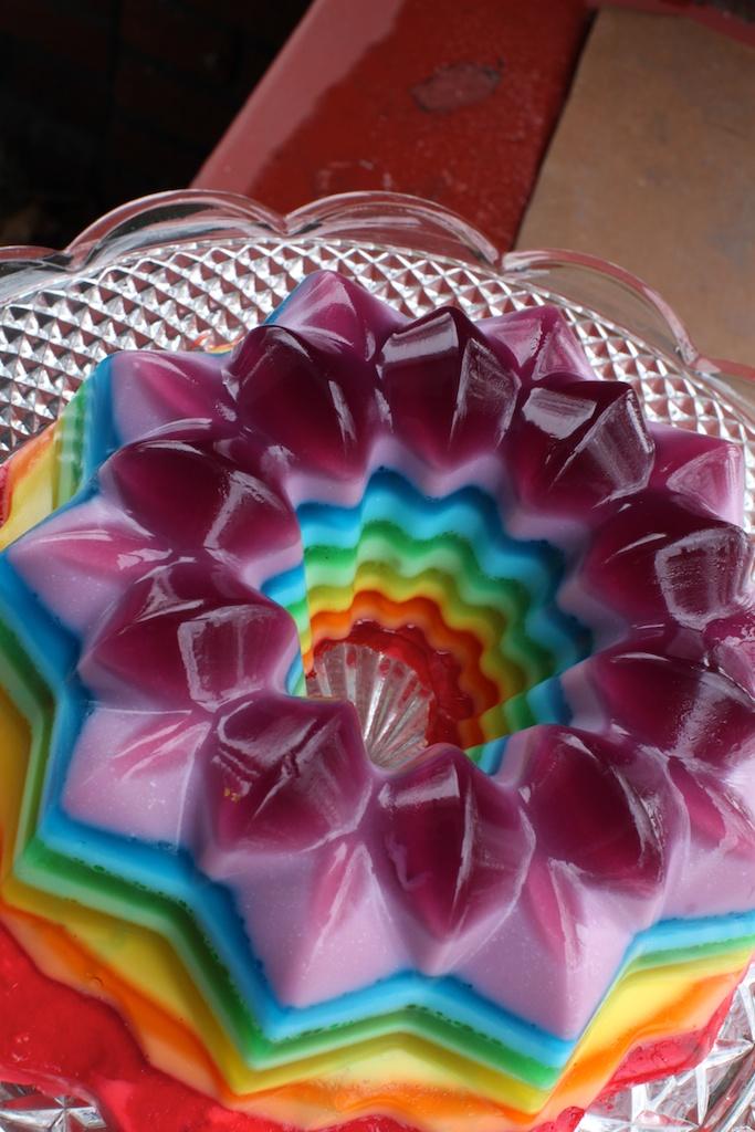 rainbow jello | Ruth E Hendricks Photography