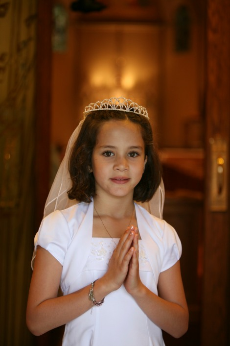 Anna made her First Holy Communion