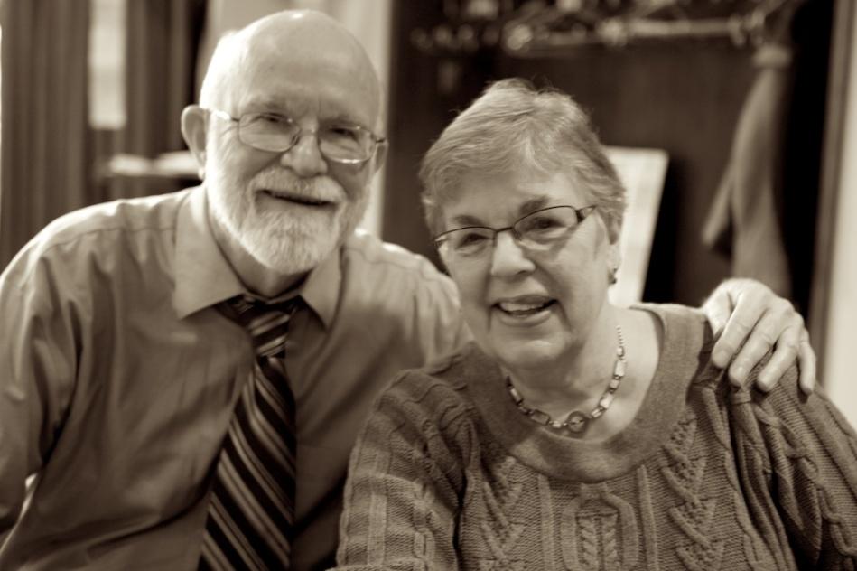 Poet Liane Ellison Norman and her husband Bob