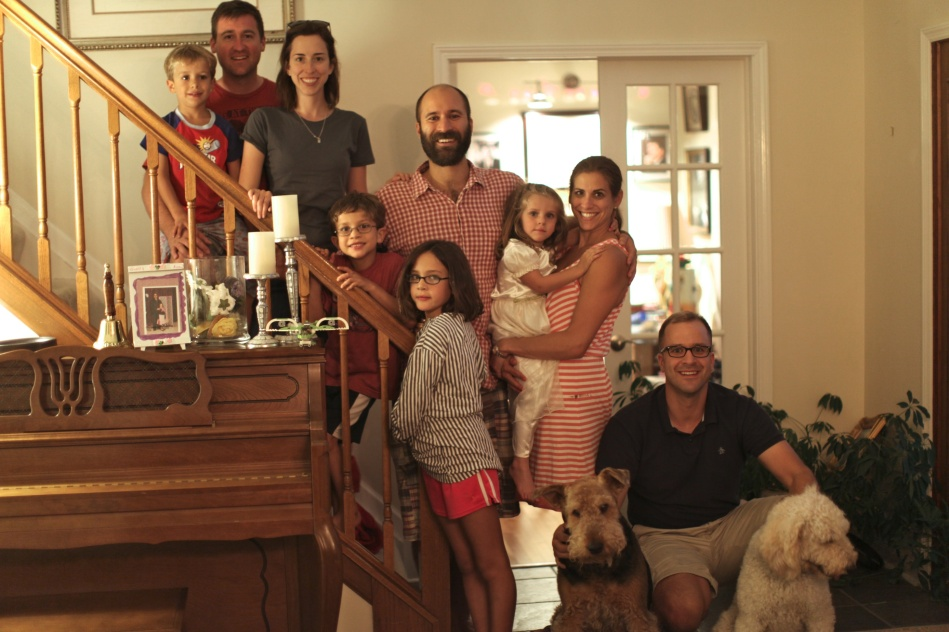 The whole clan last August