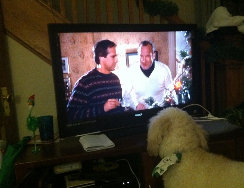 Penny watches TV
