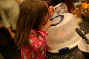 Peeking In Cake Carrier