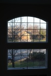 Suburban morning view