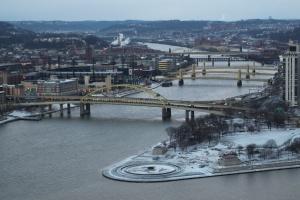 Pittsburgh Bridges in Winter