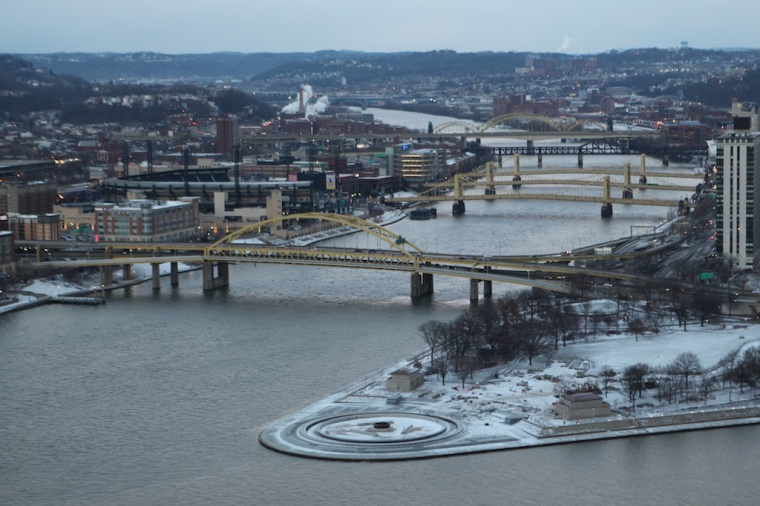 Pittsburgh Bridges in Winter