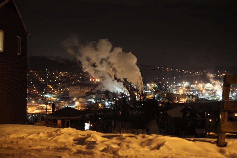 mill at night
