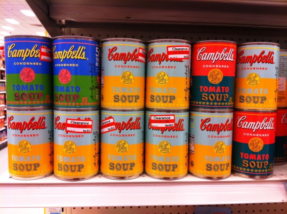 retro soup cans