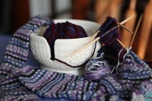socks and yarn