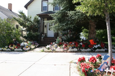 Sheboygan Home with Artificial Flower Garden