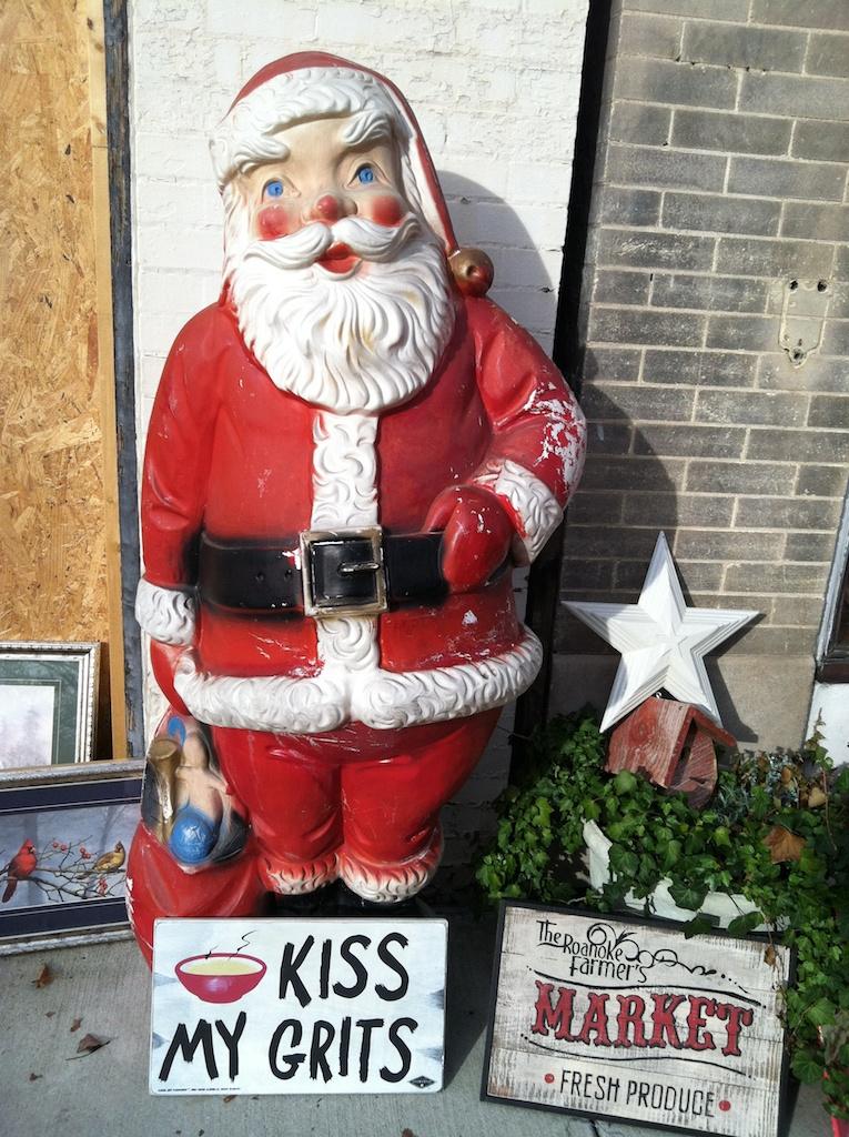 Kiss My Grits Santa in Roanoke VA