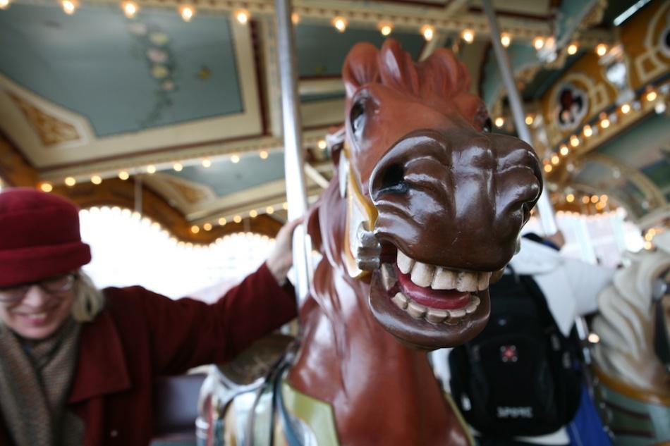 Mary's Horse on Carousel