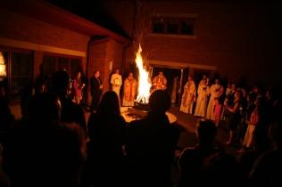 Easter Vigil Bonfire at St. Patrick's