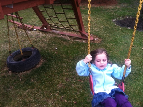 Maura on the swing