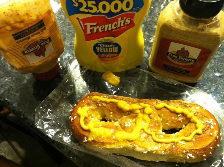 pretzels mustard