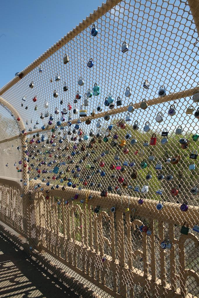 Padlocks on Pittsburgh Bridge