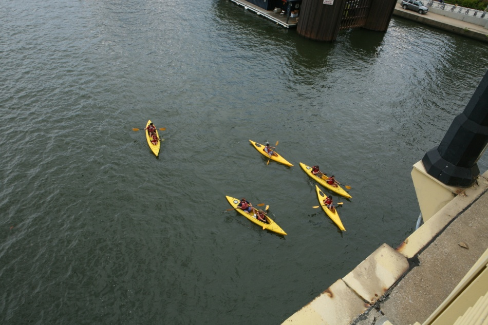 Kayaks on Allegheny River