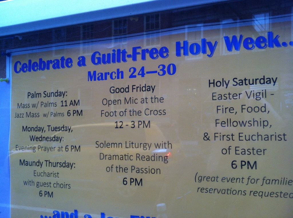 Guilt Free Holy Week