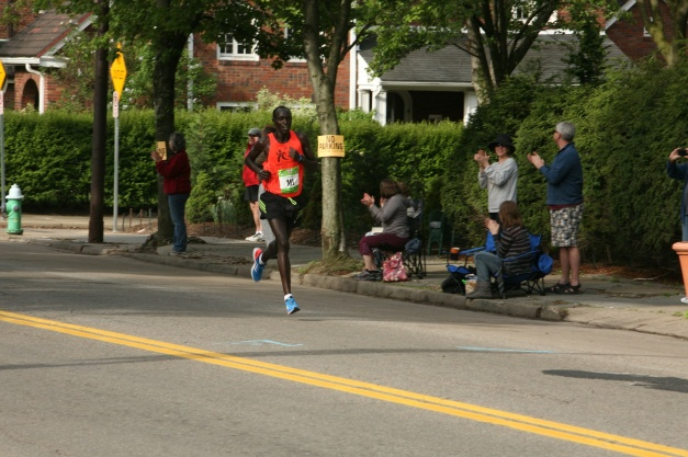 The First Marathoner at Mile 20