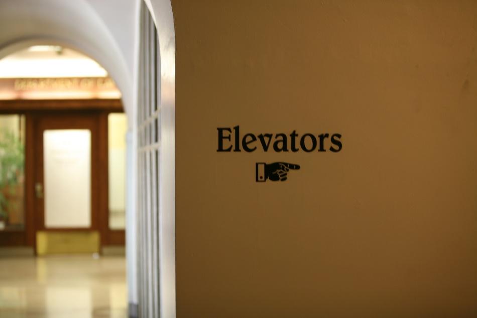 Elevators sign