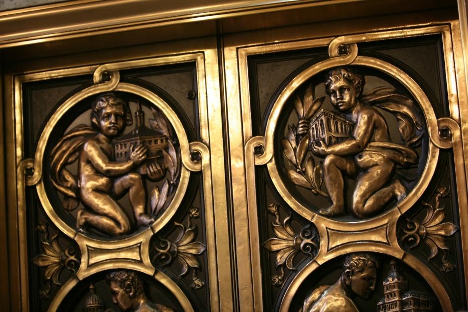 detail of elevator door