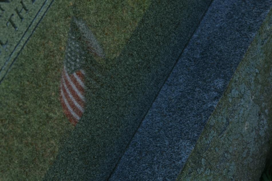 Flag reflection Gravestone