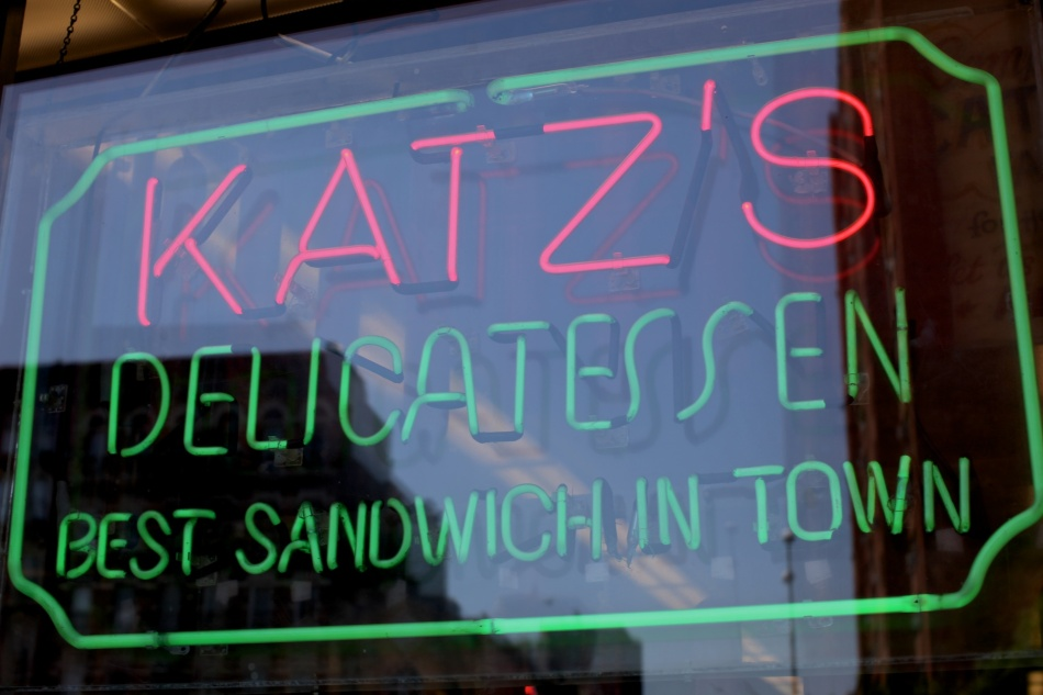 Neon sign at Katz's Deli
