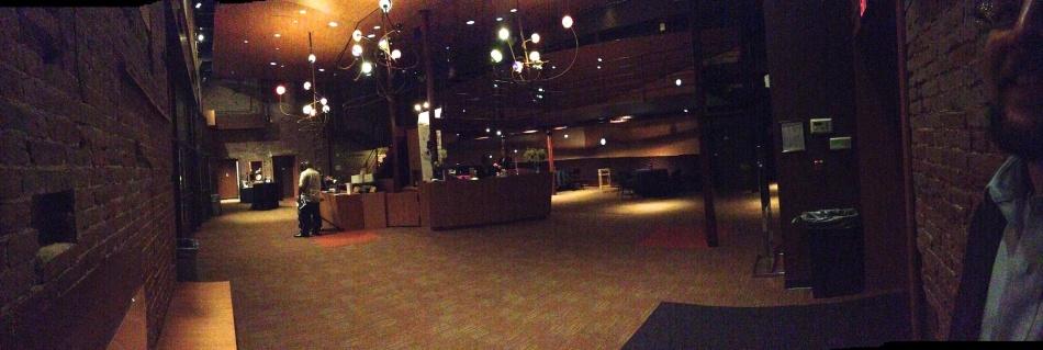 The lobby at the New Hazlett Theater
