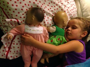 Maura with her Baby Dolls