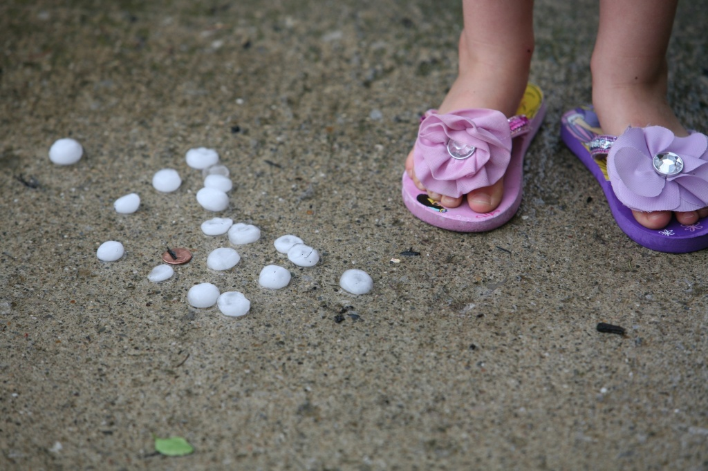 Hail stones and a penny