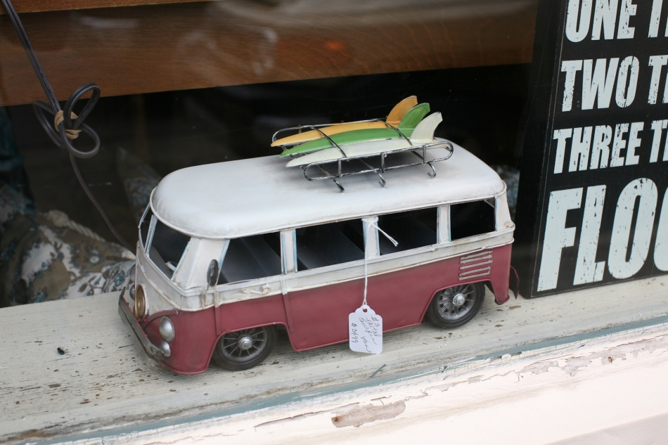 Volkswagen Van and Surfboards.