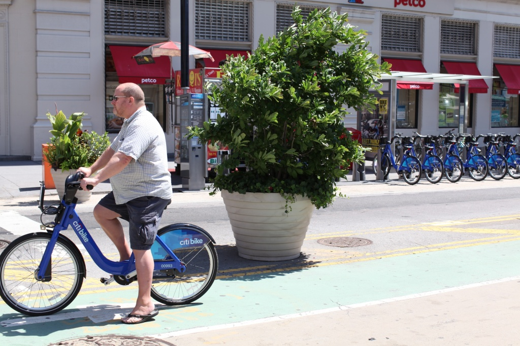 Blue citibikes