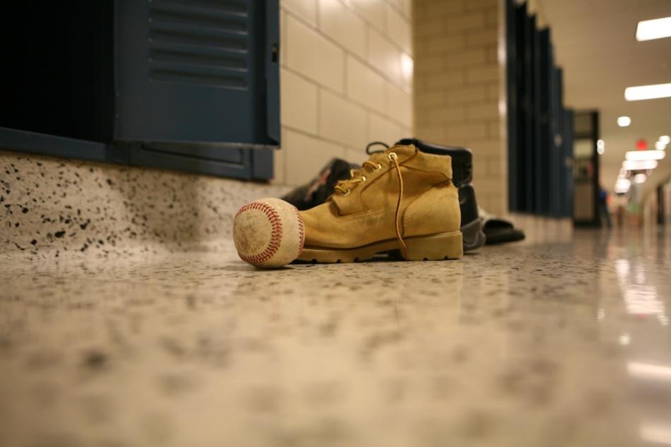 baseball and work boot
