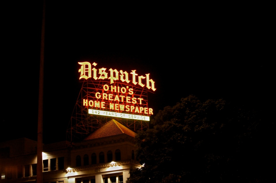Columbus Dispatch Sign