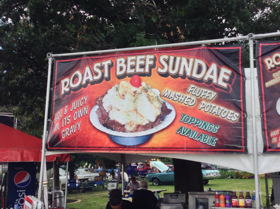 Roast Beef Sundae Sign